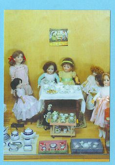 Museum Postcard Antique German French Dolls China Tea Sets Birthday Party | eBay