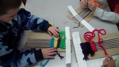 Digication e-Portfolio :: Mrs. Conant's Art Space :: 1st grade Yarn Weaving