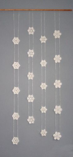 Inspiration ~ Crochet Garland Window Hanging Snowflake Garland by CAROcreated