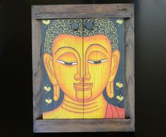 Decorative Buddha frame with a stand on the back to sit upright and with a wonderful mirror inside. Open the doors to see yourself smile! Discovered in the handicrafts markets in Thailand!
