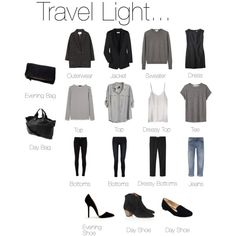 travelling light, lights, idea, fashion, pack light