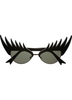 Eyelash Sunglasses - If you MUST cover your eyes, at least you can still show off some long lashes. #lashobsessed