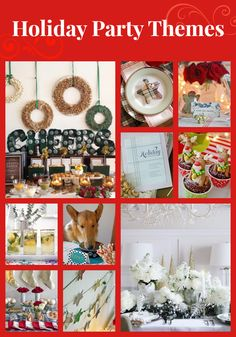 Our best holiday party themes (with free printables)  http://www.hgtv.com/entertaining/our-best-christmas-party-ideas/pictures/index.html?soc=pinterest