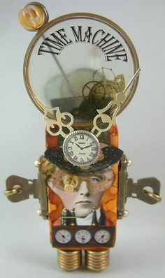 ~ Time Machine Domino Book by Artfully Musing ~