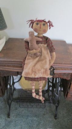 Primitive Doll with Gingerbread by Bettesbabies on Etsy, $48.00