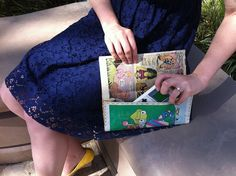 DIY comic book clutch  by jessicacharlton, via Flickr