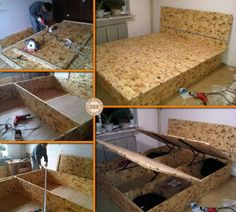 Maximize the space in your bedroom with this DIY lift top storage bed! Learn how it's made by viewing the full album of the project at http://theownerbuildernetwork.co/ofib What do you think of this storage idea?