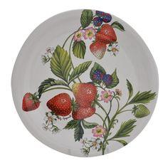 Italian ceramic strawberry plates.  I love these!