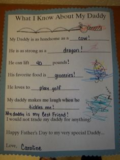Project 3 - Father's Day Questionnaire