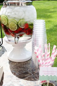 Strawberry Baby Shower: Delicious Drinks from @Melissa Squires Squires Bahen