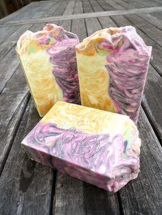 Sandalwood Rose Handmade Cold Process silk soap - soap is beautiful!