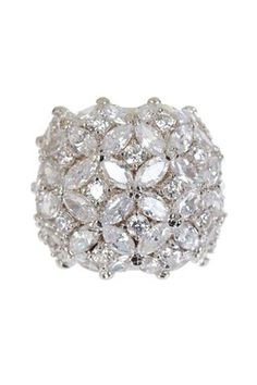$68.00 Pave Flower CZ Dome Ring  visit http://www.hautelook.com/short/3ApLt for designer items at discount prices. Free to join!