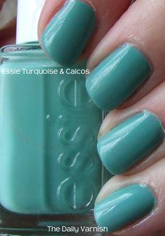 essie nails blue, nail polish, style, turquoise, colors, essi nail, beauti, essi polish, caico