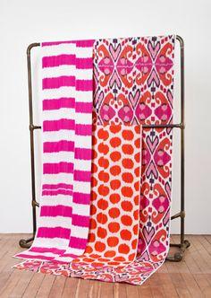 Ikat fabrics by Madeline Weinrib
