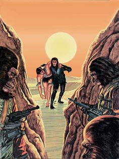 Planet of the Apes comic magazine, issue 5 cover art
