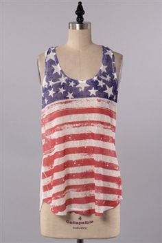 """Star Spangled"" - The perfect summer tank!!!  www.pinkslateboutique.com"