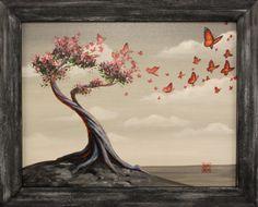Michael Summers original art - framed  #butterflies #art #painting #originalart #michaelsummers #acrylic #artist #rathercurious