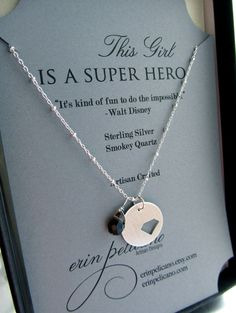 Inspirational Jewelry. Super Hero. Sterling Silver via Etsy