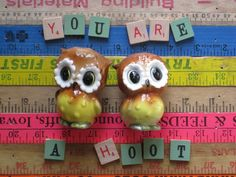 owl stuff, hoot owl, owl fever, salt, pepper shaker