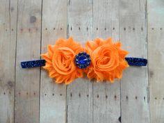 Blue and Orange Headband- Florida Gators, photo prop, babies, girls, women on Etsy, $8.00