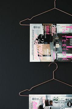 magazines on hangers