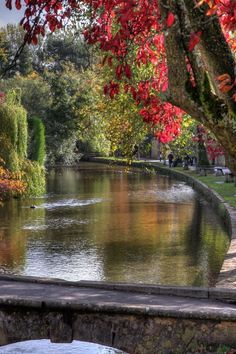 The River Windrush in Bourton-on-the-Water ~ Costwolds Area of Gloucestershire, England