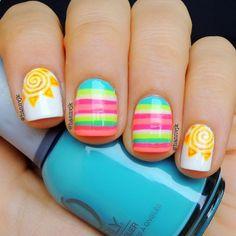 #perfect Summer nail art.
