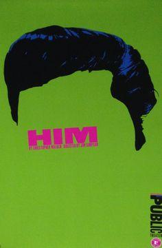 """Him"" by Paula Scher (NYC) - 1994"