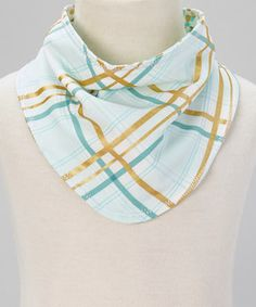 Loving this luna and bean Teal & Gold Polka Dot Reversible Drool Bandanna on #zulily! #zulilyfinds