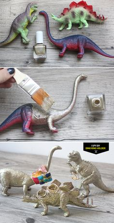 DIY dino jewelry holders ring holder diy, diy dinosaur crafts, ring holders diy, diy ring holder, diy jewellery holder, diy rings, dino ring, dinosaur diy, diy step
