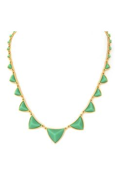 House of Harlow Green Resin Pyramid Necklace #gold #green #pyramid #studs #houseofharlow $75 (http://www.swankboutiqueonline.com/mint-green-resin-pyramid-necklace/)