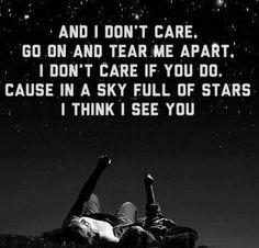 I love Coldplay  A Sky Full Of Stars! ☆★☆★☆★☆★☆★