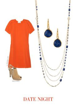 tangerine and navy, hot!  http://bit.ly/Alnapw
