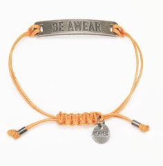 """Be Awear"" Plated Bracelet with Pewter Plate Kenneth Cole"