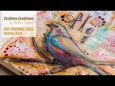 ▶ 【ART JOURNAL PAGE】 Spring Bird - YouTube