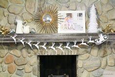 EASY Santa and Reindeer paper garland tutorial remodelaholic.com #santa #reindeer #garland #12days72ideas