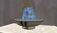 I made this 3D Virtual reality, tabletop fountain. My first listing in the Second Life marketplace! The water is animated, and there are soothing water sounds