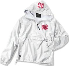 Double Monogrammed Pullover Wind Jacket