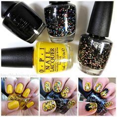 3 Steps to Charlie Brown Halloween Nail Art feat. OPI x Peanuts