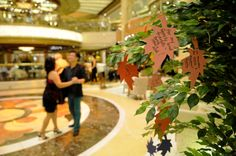 Passengers celebrated the things they were most thankful for, and shared them on the Tree of Thanks during the Thanksgiving holiday onboard.