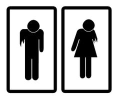 Zombie restroom signs