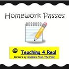 FREEBIE.....Seasonal or Themed Homework PassesHomework is important...I know...but there are times when the homefront gets a little crazy.These Homewor...