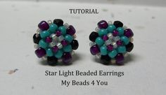 PDF Beading Tutorial Beaded Earring Tutorial Seed by mybeads4you, $5.00
