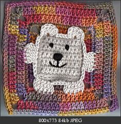 bear crochet square