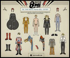 Your very own David Bowie paper doll!