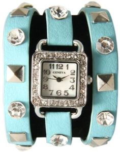 Just bought this Pyramid Stud Sea Blue Wrap Watch instaglam  http://media-cache4.pinterest.com/upload/67342956898161848_tdX9Daqz_f.jpg