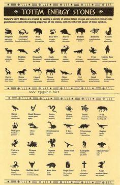 Spirit Totem Animals:  Totem Energy Stones.