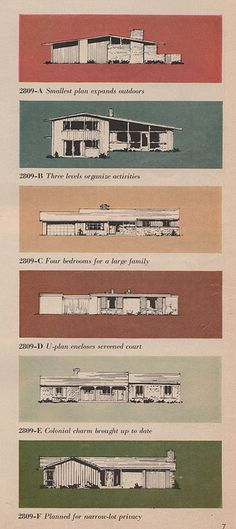 Lots and lots of Mid Century house plans in my Flickr photostream. This is just a small number of them here on Pinterest.
