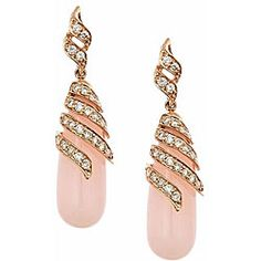 Dyach 14k Rose Gold Pink Opal And 1ct Tdw Diamond Earrings (g-h, Ij)