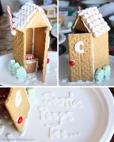 Homemade Graham Cracker Houses--@Barbara Orth and @Melissa Orth once we have kids of a certain age (I'm thinking about 2ish) we need to start this Christmas tradition at GramBee's House!